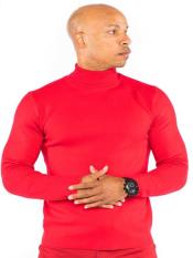 Mens Classic Knit Turtle Neck Pull Over Available in Big And