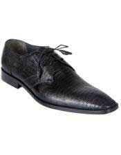 Genuine Black Teju Lizard Oxfords Dress Los Altos Boots  Shoe For