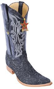 Leather Los Altos Mens Cowboy Black Silver Boots Western Classics Riding