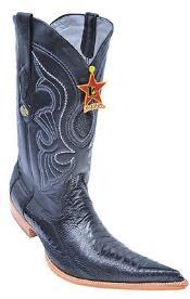 Leg Handmade Black Los Altos Mens Cowboy Boots Western Classics