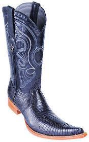 Lizard Vintage Black Los Altos Mens Cowboy Boots Western Classics Fashion