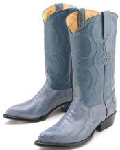 Ostrich Leg Blue Jean Los Altos Mens Cowboy Boots Western Classics