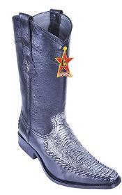 Ostrich Leg Blue Los Altos Mens Cowboy Boots Western Classics Riding
