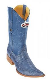 Handmade Ostrich Leg Blue Jean Los Altos Mens Cowboy Boots Western