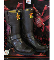 Altos Ostrich Leg Brown Motorcycle Biker Western Cowboy Work Boot