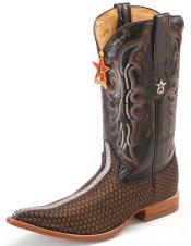 mantarraya skin Print Los Altos Honey Comb Brown Mens WESTERN Cowboy Boot ~ botines para hombre 3X