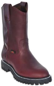 Mens Los Altos Safety Work BOOTS Burgundy ~ Maroon ~ Wine