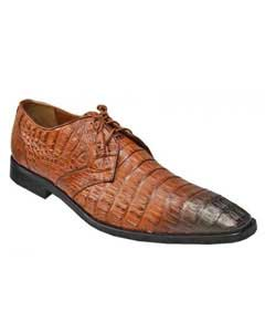 Brown Dress Shoe Los Altos Cognac / Brown Genuine Crocodile ~ World