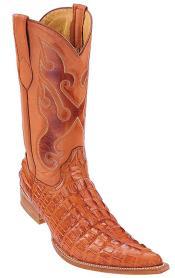 Tail Print Cognac Vintage Los Altos Mens Cowboy Boot ~ botines