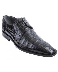 Los Altos Black Genuine All-Over Crocodile ~ World Best Alligator ~ Gator Skin Belly Shoes