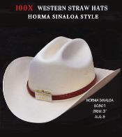 Cowboy Western 100X Premium Straw Hat Grey ~ Gray By Los Altos