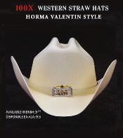 Tejana Cowboy Western 100x Premium Straw Hat Gray By Los Altos