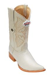 Leather Cream ~ Ivory ~ Off White Los Altos Mens Cowboy Boot ~ botines para hombre Western