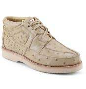 Los Altos Padded Collar Genuine Ostrich Taupe Shoes