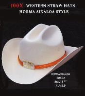Cowboy Western 100X Premium Straw Hat Silver Belly By Los Altos