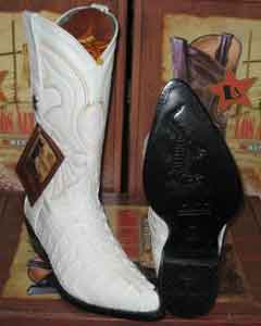 Los Altos White Genuine Crocodile ~ World Best Alligator ~ Gator Skin Tail Western Cowboy Boot