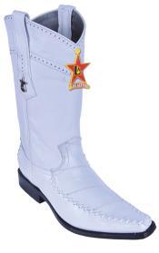 Classy Vintage Riding White Los Altos Mens Western Boots Cowboy Classics