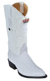 Quill Ostrich Vintage White Los Altos Mens Cowboy Boots Western Classics
