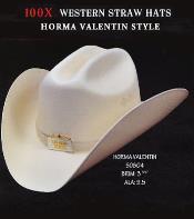 Cowboy Western 100X Premium Straw Hat By Los Altos