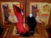 Altos Women Red/Black Leather