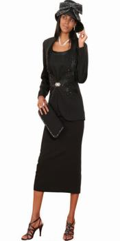 Couture Promotional Ladies Black Suits