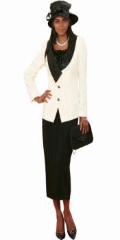 Couture Promotional Ladies Suits – Ivory With Black
