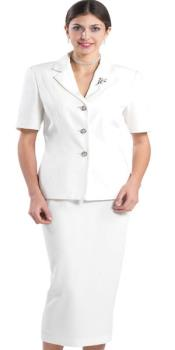 Lynda Couture Promotional Ladies Suits - Ivory