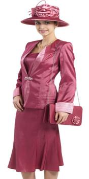 Couture Promotional Ladies Suits - Dark Rose