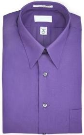 collar Wrinkle resistant Poplin fabric 65% polyester 15% cotton Purple Dress