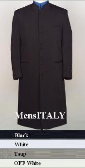 HM45GA 10 Buttons Mandarin Collar 45 Long Jacket ITS ONE OF