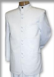 QSP697 Best Quality Mandarin Collar White Mandarin Suit