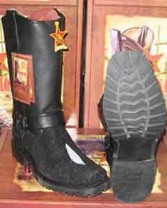 Altos Genuine Western Cowboy Boot Stingray mantarraya skin Motorcycle Biker