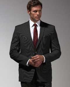 Mantoni Brand Black Stripe ~ Pinstripe Suit