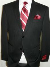 Mantoni Brand Shadow Stripe ~ Pinstripe Suit by Mantoni