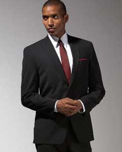 Mantoni Brand Black Suit