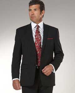 Mens-Black-Wool-Suits