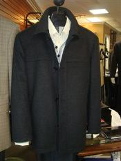 Dress Coat Mantoni SB Pea Coat in Wool and Cashmere