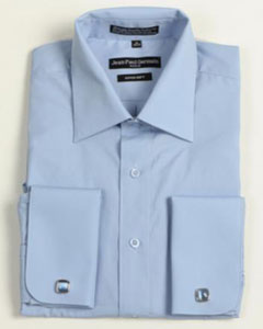 Medium Blue French Cuff Big & Tall  Shirt 18 19 20 21 22 Inch Neck  Mens