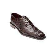 Authentic Genuine Skin Italian Chapo Hornback Lace Up Shoes Brown