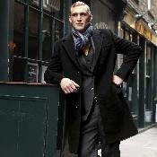 Black 100% Cashmere Overcoat