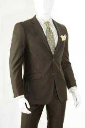 Fit Cheap Priced Business Suits Clearance Sale Tonal Shadow Stripe ~ Pinstripe Chocolate Dark Brown