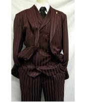 Falcone Burgundy ~ Wine ~ Maroon Color Shiny Stripe ~ Pinstripe