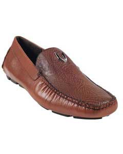 Cognac Genuine Shark Driver Vestigium Driving Shoes slip on loafers for men