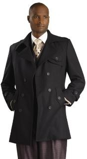 Stylish Overcoat Black