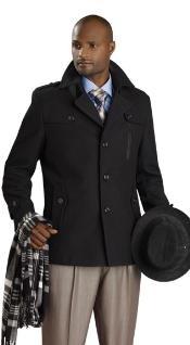 Stylish Overcoat - Black