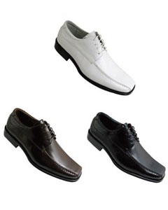 Solid Dress Shoes Faux Leather Style White Black