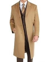 Dress Coat Long Wool Winter Dress Knee length Coat Camel ~ Khaki Wool Blend Topcoats ~ overcoat