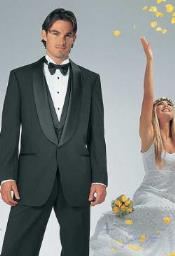 and Tall or Extra Long Tuxedo Suit / Jacket With 1-Button Renaissance Shawl Wedding / Prom Formalwear