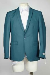 Teal Cheap Priced Designer Fashion Dress Casual Blazer