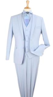Mens 3 Piece modern fit Poly
